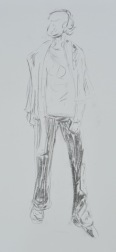 Short pose in charcoal